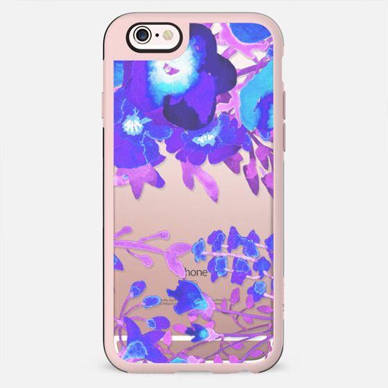 Watercolor flowers purple magenta doodle - New Standard Case