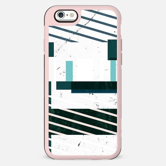 Green stripes and white marble