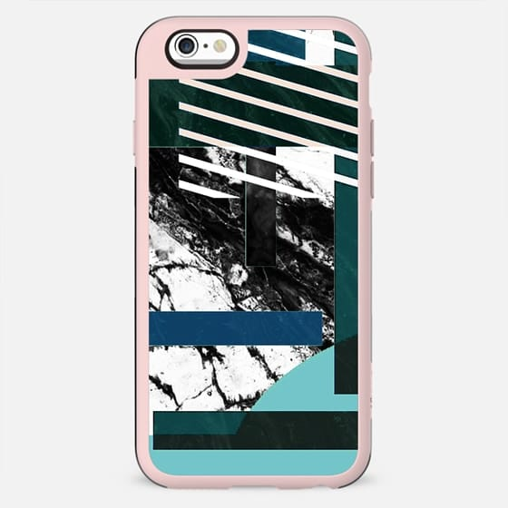 Stripes and marble collage - New Standard Case