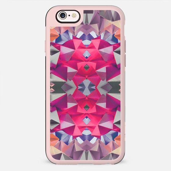 Pink grey origami pattern