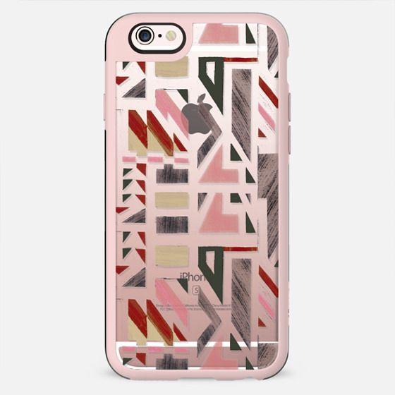 Transparent pastel tribal geometric pattern