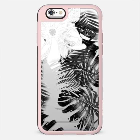 Black ficus tropical leaves