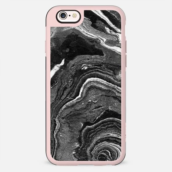 Dark painted marble lines abstract - New Standard Case