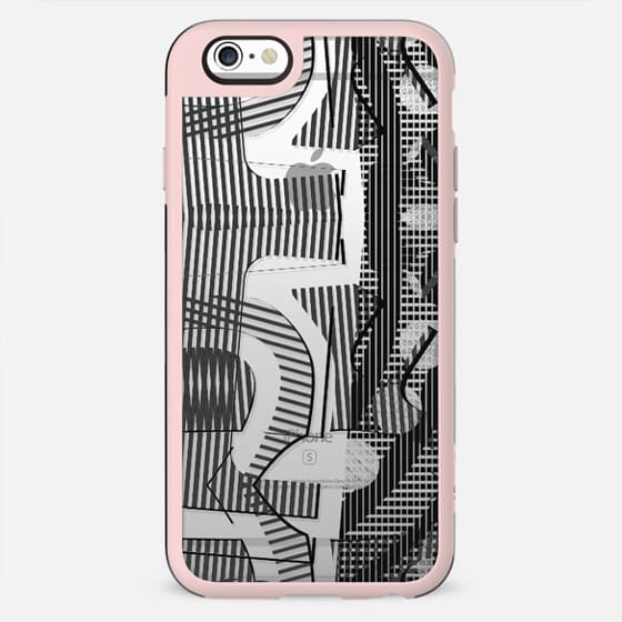 Stylised plaid grey clear stripes - New Standard Case