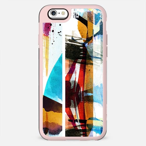 Vibrant brushed watercolor abstract art - New Standard Case