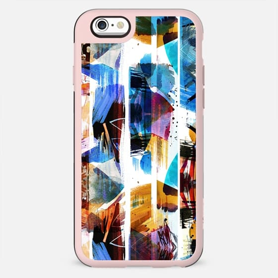 Vibrant brushed watercolor stripes - New Standard Case