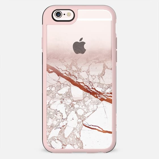 Half golden marble transparent - New Standard Case