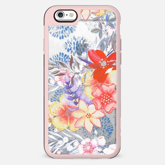 Red pink watercolor flowers - New Standard Case