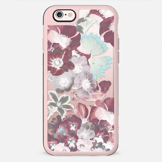 Transparent pastel flower petals