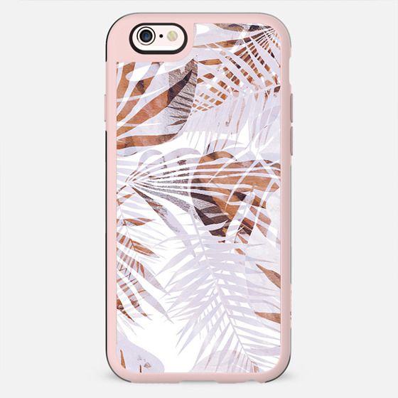 Pastel romantic tropical leaves - New Standard Case