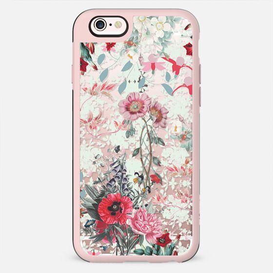 Intricate botanical floral illustration - New Standard Case