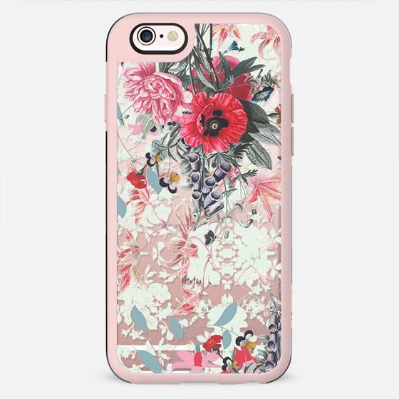 Romantic floral botanical drawing