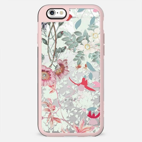 Pastel Romantic floral botanical illustration - New Standard Case