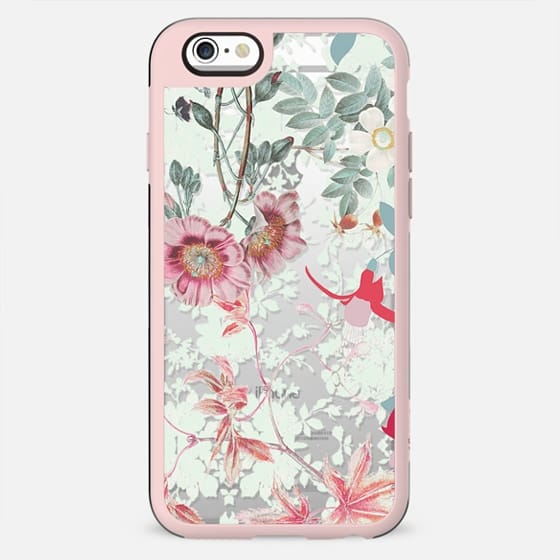 Pastel clear flowers botanical illustration - New Standard Case