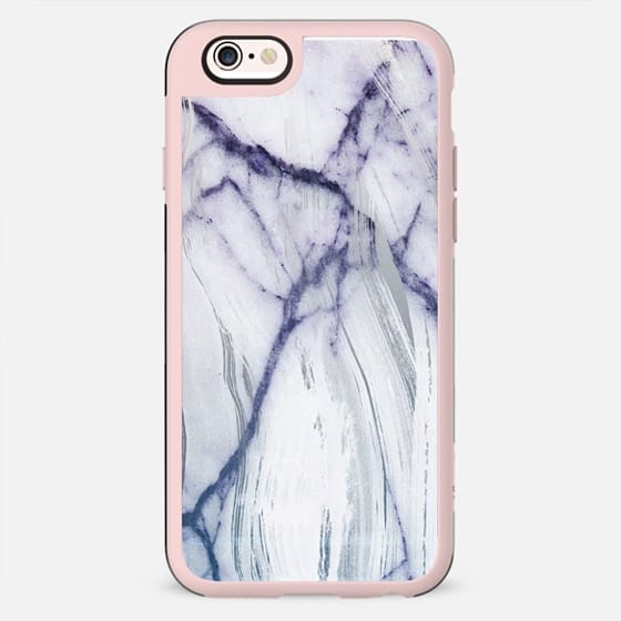 Brushed blue white clear marble