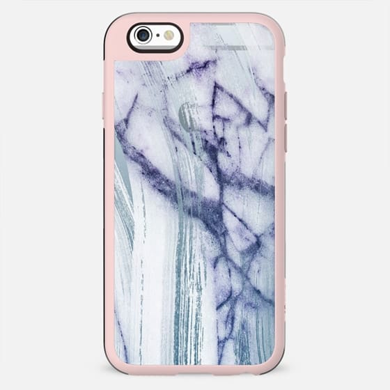 minimal transparent blue white marble