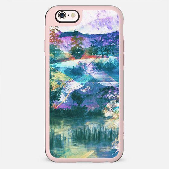 Vibrant watercolor landscape