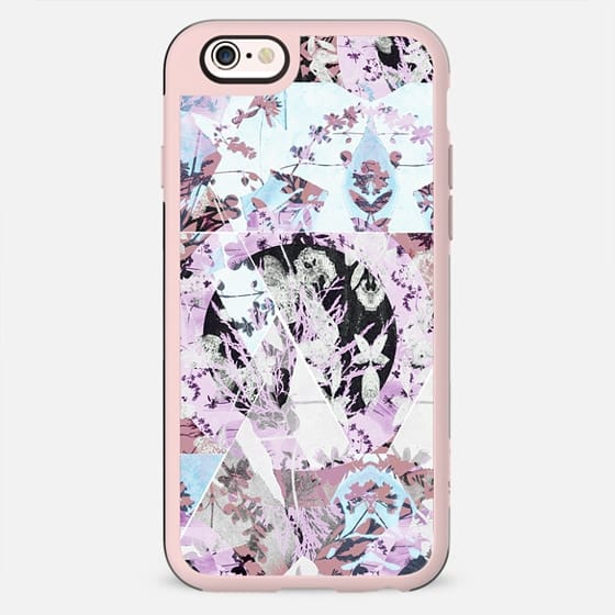 Pastel floral patchwork collage - New Standard Case
