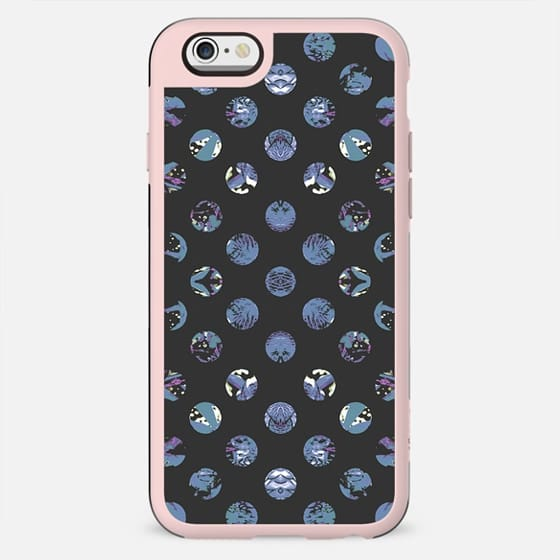 Blue purple abstract painted polka dots 2 - New Standard Case