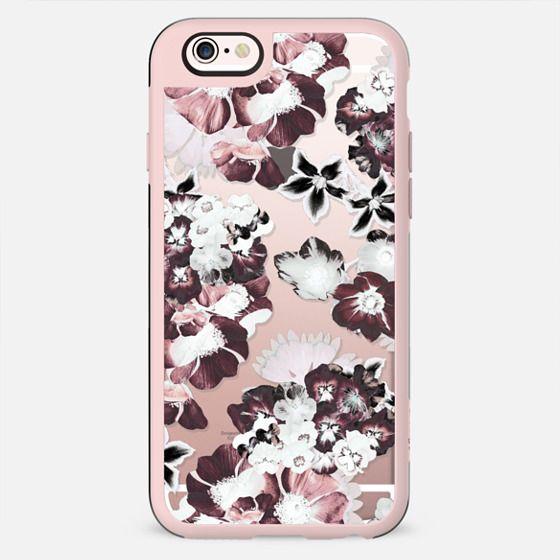 White burgundy clear flower petals