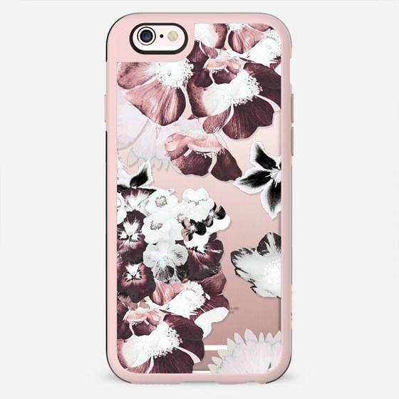 White burgundy flower petals 2