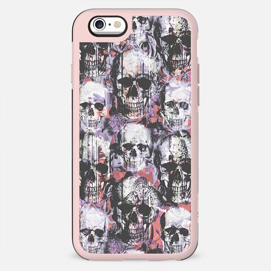 Skulls and tropical flowers ink painted - New Standard Case