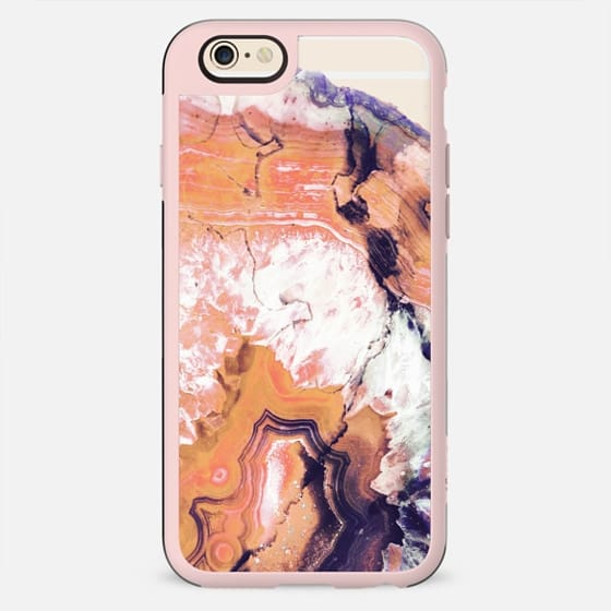 Orange agate marble transparent - New Standard Case
