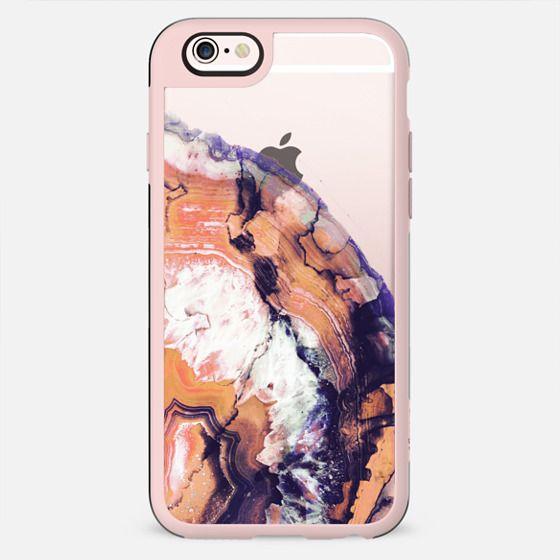 Orange agate marble clear - New Standard Case
