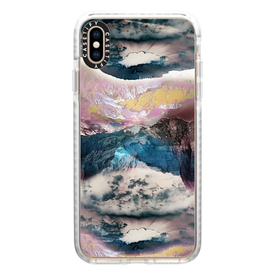 iPhone XS Max Cases - Cloudy mountain landscape