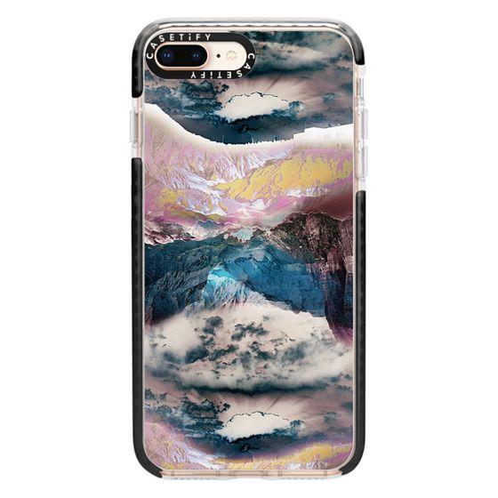 iPhone 8 Plus Cases - Cloudy mountain landscape