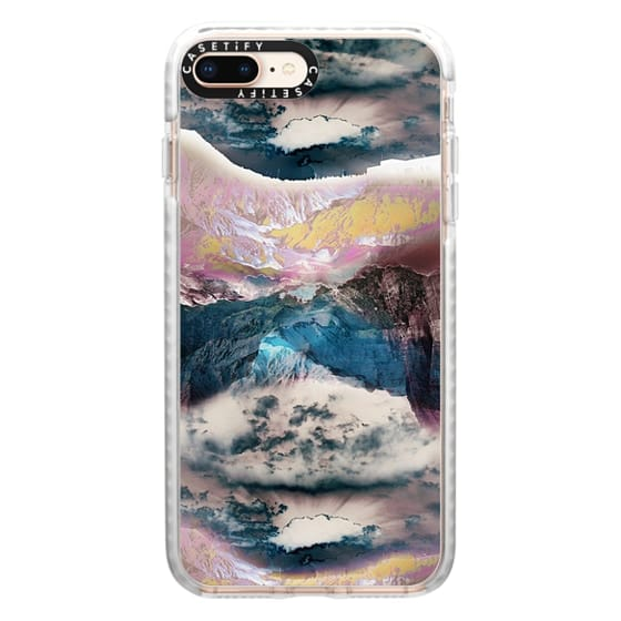 iPhone 8 Plus Cases - Cloudy mountain landscape