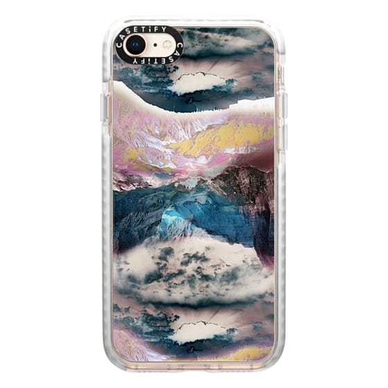 iPhone 8 Cases - Cloudy mountain landscape