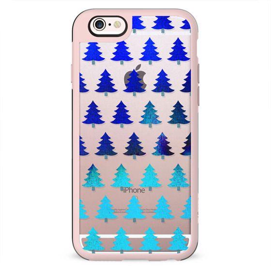 Gradient blue  Christmas trees