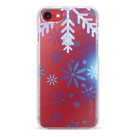 iPhone 6s Cases - Blue silver snowflakes