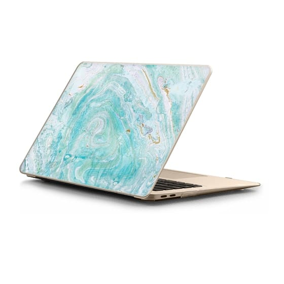 MacBook Air Retina 13 Sleeves - Blue watercolor marble art