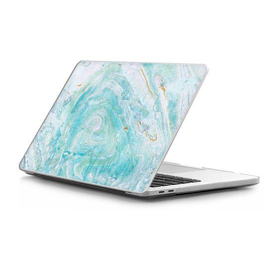 MacBook Pro Touchbar 13 Sleeves - Blue watercolor marble art