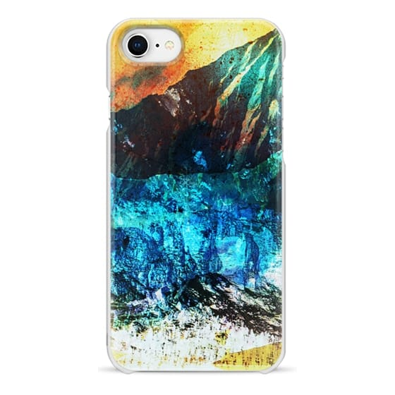 iPhone 7 Plus Cases - Painted abstract mountain landscape