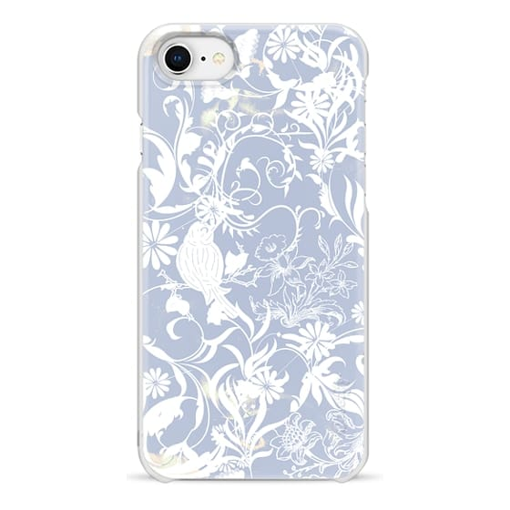 iPhone 6s Cases - Pastel blue white romantic foliage and birds illustration