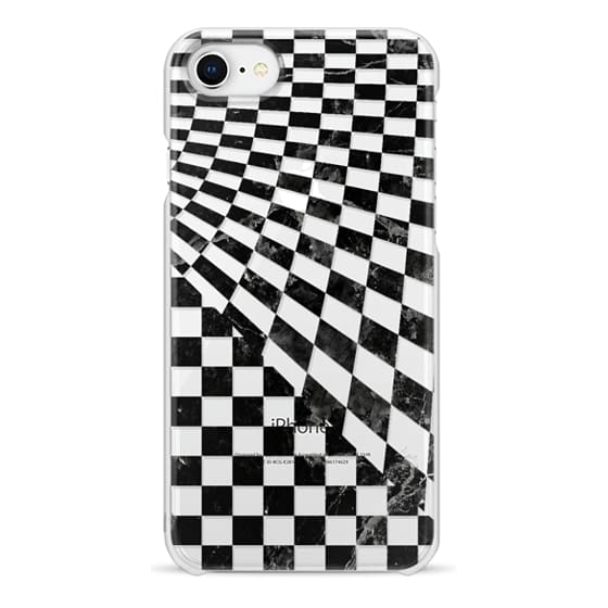 iPhone 6s Cases - Black marble check pattern clear case