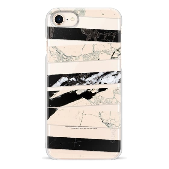 iPhone 6s Cases - Cracked marble lines clear