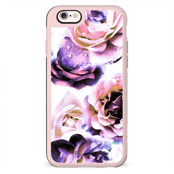 Purple pink rose petals stylised