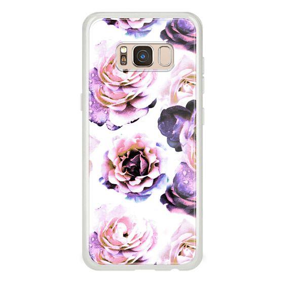 iPhone 7 Plus Cases - Purple pink romantic rose petals