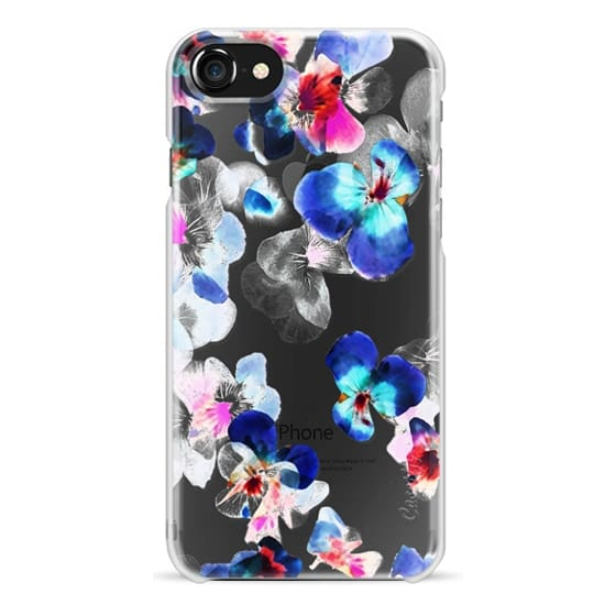 iPhone 6s Cases - Transparent blue pink pansy petals 2