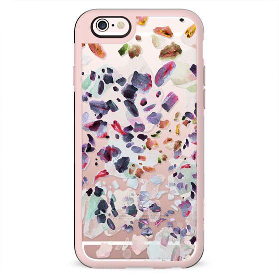 Pastel watercolor pebble stones