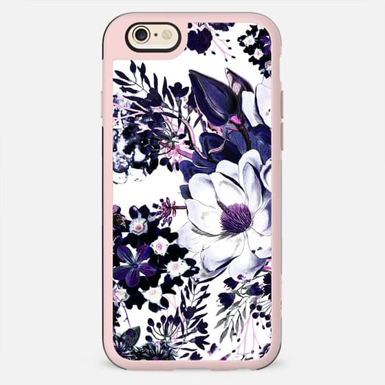 Ink painted elegant flowers on white - New Standard Case