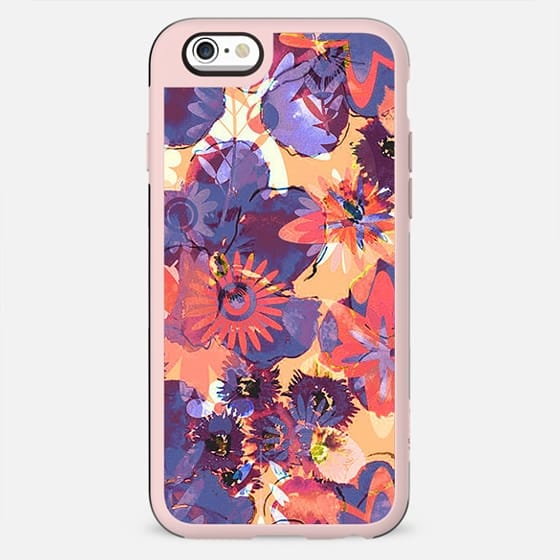 Hippy watercolor flowers print - New Standard Case