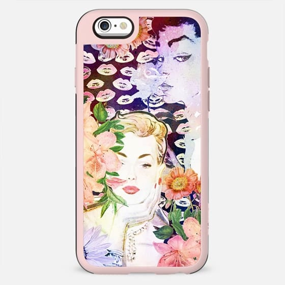 Vintage girls and flowers watercolor painting - New Standard Case