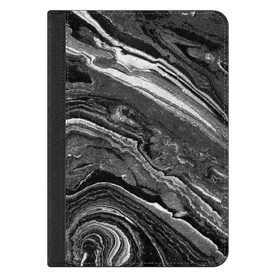 iPad Mini 4 Covers - Dark painted marble lines
