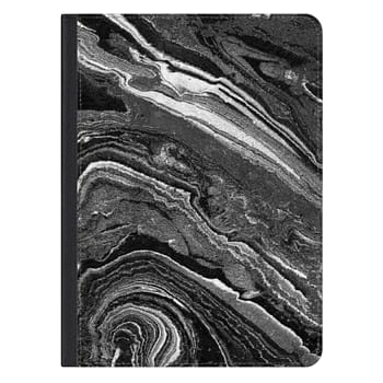 iPad Pro 12.9-inch Case - Dark painted marble lines