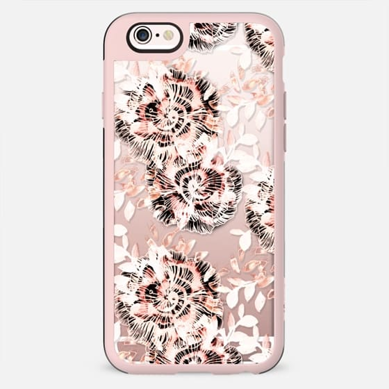 Pink watercolor flower petals